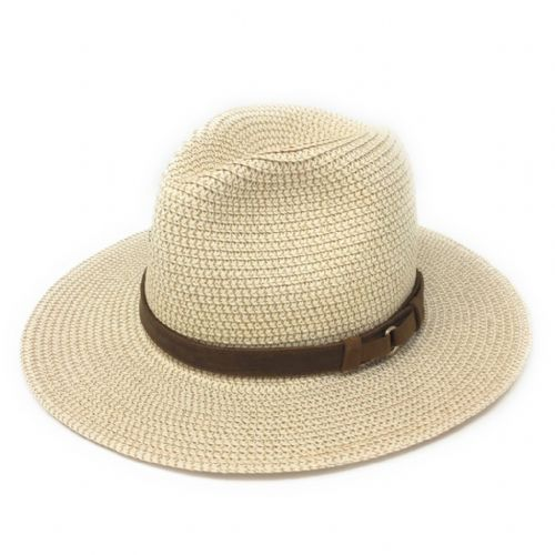Summer Fedora Hat with Leather Band